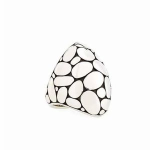 John Hardy Marquise Kali sterling silver dome ring